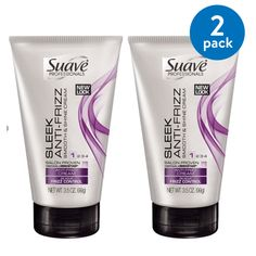 (2 pack) Suave Professionals Sleek Anti Frizz Cream, 3.5 oz
