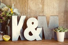 modern gray wedding with succulent and natural accents.