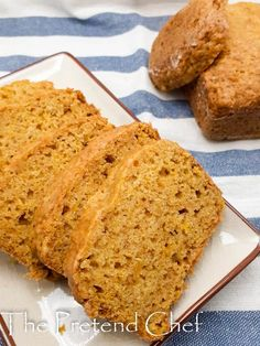 Pumpkin bread recipe - The Pretend Chef Canned Pumpkin, Pumpkin Bread, Pumpkin Spice, Chef Recipes, Bread Recipes, Plantain Bread, Mango Muffins, Sweet Potato Muffins, Nigerian Food