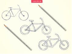 Desenhar uma bicicleta pode ser tão fácil e gostoso quanto pedalar. Então, que tal ensinar os traços às crianças e depois propor um passeio de bike? Só não esqueçam dos itens de segurança.