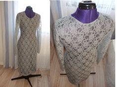 Grey Lace Jersy Tube Dress