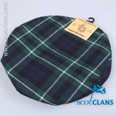 Wool tartan golf cap in Graham of Montrose Modern Tartan - from ScotClans