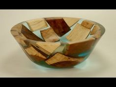 Woodturning a Segmented Bowl with 1070 Pieces!! - Tornado Bowl - YouTube