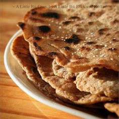 No-Knead Whole Wheat Olive Oil Naan by A Little Bit Crunchy A Little Bit Rock and Roll, via Flickr