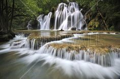 Flowing Water in France - Canvas Print & Canvas Art - Photowall