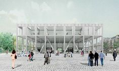 Hungarian Museum of Architecture & Photography by Plan Común (Competition entry)