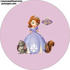 Princesinha Sofia da Disney – Kit Completo com molduras para convites, rótulos para guloseimas, lembrancinhas e imagens! | Fazendo a Nossa F...