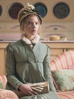 Movie Costumes, Cool Costumes, Emma Movie, Emma Woodhouse, Jane Austen Movies, Anya Taylor Joy, Historical Costume, Pride And Prejudice, Fashion History