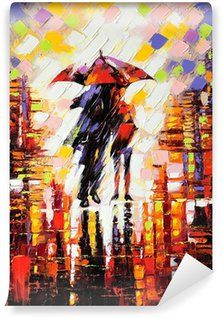 Tablou Canvas Two Lovers under Umbrella Culoare: Color Format: Portrait Free Art Prints, Wall Art Prints, Canvas Prints, Canvas Frame, Canvas Art, Painting Canvas, Canvas Size, Wooden Jigsaw Puzzles, Glass Printing