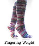 Click to go to the fingering-weight toe-up sock pattern