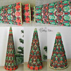 Quilled ornamento di Natale albero di natale  arte della