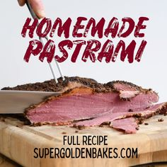Easy Homemade Pastrami that tastes incredible! Home cured and oven smoked with a. - Easy Homemade Pastrami that tastes incredible! Home cured and oven smoked with a corned beef option - Smoked Pastrami Recipe, Smoked Corned Beef Brisket, Corned Beef In Oven, Homemade Pastrami, Homemade Corned Beef, Beef Brisket Recipes, Smoked Meat Recipes, Pastrami Recipe From Corned Beef, Pastrami Recipe Slow Cooker