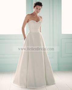 Gown 1656   2012 Spring Collection   Mikaella Bridal (Shown with Ribbon Sash at waist)