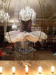 Paris shop window . A store for ballet accessories.