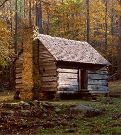 Photo about An old log cabin in Tennessee. Image of scenic, landscape, cabin - 49897 Survival Shelter, Survival Life, Wilderness Survival, Camping Survival, Outdoor Survival, Survival Prepping, Survival Gear, Survival Skills, Doomsday Prepping