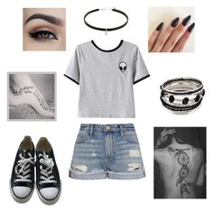 """Me"" by riley-motes on Polyvore featuring Chicnova Fashion, Frame Denim and Converse"