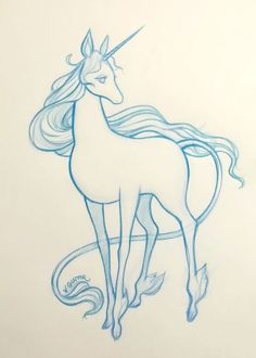The Last Unicorn sketch  Virginia Gunter    www.gunterdoesart.com    facebook.com/ArtistVirginiaGunter    instagram.com/gunterdoesart      Beautiful Cases For Girls