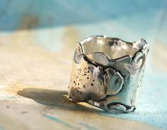 Cool Silver Jewelry Thick Boho Silver Ring Eco by HappyGoLicky, $125.00