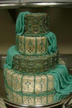 beautiful Indian theme cake