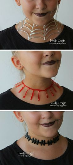 mommo design: HAPPY FALL - Hot glue necklaces