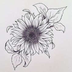 Getting a sunflower tattoo is an essential decision and a whopping deal because . - Getting a sunflower tattoo is an essential decision and a whopping deal because these tattoo designs - Tattoo Dotwork, 4 Tattoo, Tattoo Drawings, Body Art Tattoos, New Tattoos, Sleeve Tattoos, Tattoo Forearm, Tattoo Fonts, Tattoo Stencils