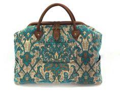 Mary Poppins Style Large Custom Carpet Bag by BitsandPurses