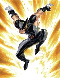 Wolverine by Bruce Timm. Bruce is a DC Comic artist, he gave us Batman Animated Series. And I am so honor to see other art work by Bruce Timm for Marvel Comics heroes. Bruce Timm, Comic Book Artists, Comic Artist, Comic Books Art, Marvel Heroes, Marvel Characters, Marvel Dc, Batman, Harley Quinn
