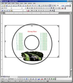 ms word dvd cover template