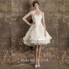 Vintage gothique victorien chérie court princesse robes De mariée robes De…