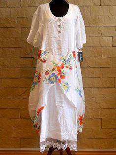 Exclusive Collection SARAH SANTOS LAYERED DRESS 100%LINEN