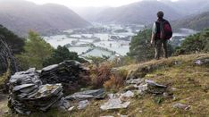 A walker enjoys the view from Castle Crag in the Lake District Visit Britain, Places In England, Winter Walk, The Mountains Are Calling, Cumbria, British History, Lake District, Stunning View, British Isles