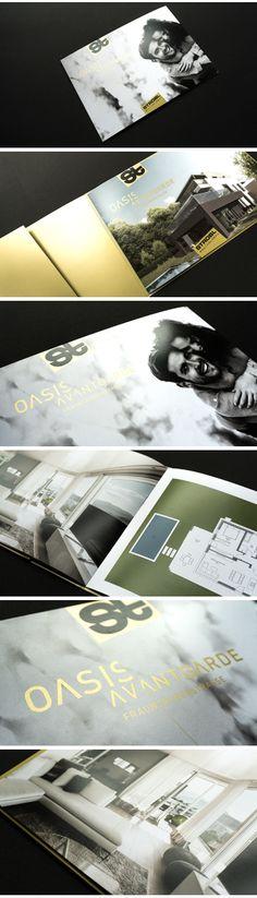 """gestaltung und layout für die exklusiv-linie """"oasis avantgarde"""" der strobl bau – holzbau wohnbauprojekte Editorial Design, Oasis, Layout, Line, Projects, Homes, Page Layout, Editorial Layout"""