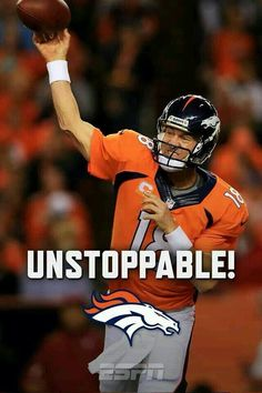 I'll take Peyton with the broncos any day! Denver Broncos Peyton Manning, Denver Broncos Football, Go Broncos, Broncos Fans, Pittsburgh Steelers, Dallas Cowboys, Broncos Players, But Football, Best Football Team