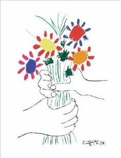 Pablo Picasso - Hände mit Bouquet (1958) - jetzt bestellen auf kunst-fuer-alle.de