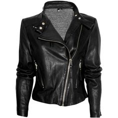 IRO Leather Biker Jacket found on Polyvore