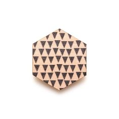 POLLI / Copenhagen Brooch - Pink Triangles
