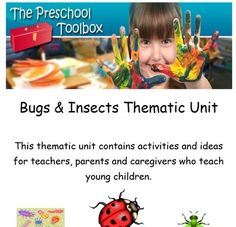 The Bugs and Insects Thematic Unit is a 139 (total) page unit for use in Preschool and Kindergarten. If you plan to use the theme to accompany core studies for one week only, you will have many activities left for a new unit the following year. This theme includes playful learning activities for math, science, and literacy as well as numerous songs, poems, art and crafts activities, gross motor ideas, food/food crafts, dramatic play, and book suggestions.