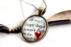 decoupage jewelry   Romeo & Juliet decoupage pendant