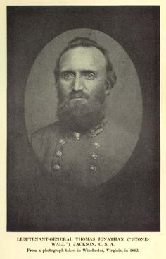 "Stonewall Jackson, 1824-1863. An amazing Christian man who served in the Civil War as a Confederate General. I just finished the movie ""Gods and Generals"" and he is such an amazing man!"