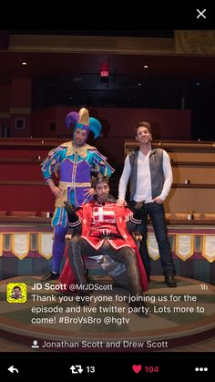 Jonathan, Drew & JD Scott for season 4 of Brother vs Brother in Vegas 2016