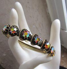 @ ETSY Vintage Florenza Aurora Rhinestone Bracelet by Scentedlingerie