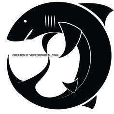 Shark silhouette in vector format.