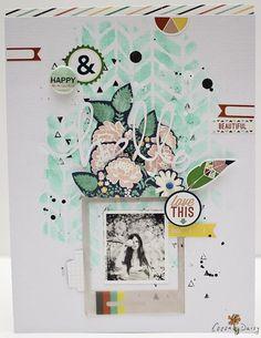 "Jaime   Cocoa Daisy -- using the Balzer Designs ""Chunky Chevron"" stencil"