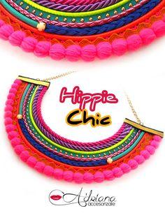 Nuevos #accesorios #hippiechic. Cueros, elasticas, encajes, cordones, strass, telas en un solo #collar