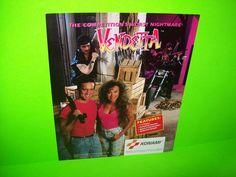 VENDETTA By KONAMI 1991 ORIGINAL NOS VIDEO ARCADE GAME PROMO SALES FLYER #konamivendetta #videogameflyer