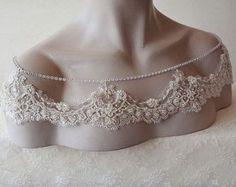 Wedding Shoulder Jewelry Bridal Shoulder Necklace by ADbrdal