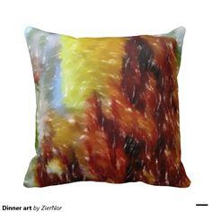Dinner art throw pillow