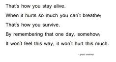 Until then just accept the pain with every breath