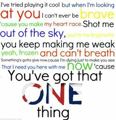 one thing<3
