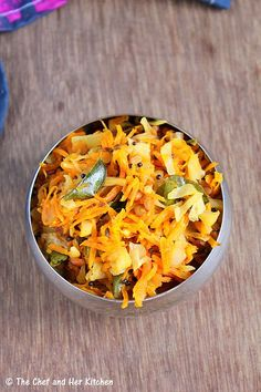THE CHEF and HER KITCHEN: Cabbage Carrot Stir fry | Easy Side dishes for Rice